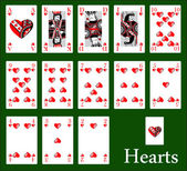 Hearts cards — Stock Vector