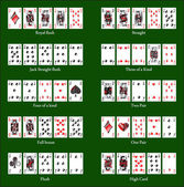 Poker cards — Stock Vector