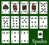 Spades — Stock Vector