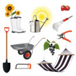 Gardening icon set — Stock Vector #16203031