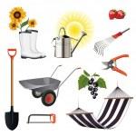Gardening icon set — Stock Vector #16203031