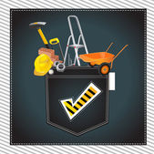 Construction happy — Stock Vector