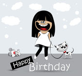 Happy Birthday Card pirate — Stock Vector