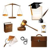 Icone della legge — Vettoriale Stock