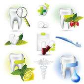 Medicine tooth — Stock Vector