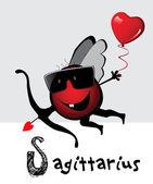 Sagittarius zodiac — Stock Vector