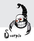 Scorpio zodiac — Stock Vector