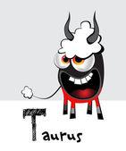Taurus zodiac — Stock Vector