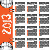 2013 smile calendar — Vecteur