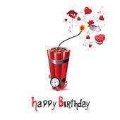 Happy Birthday BOMB — Stock Vector