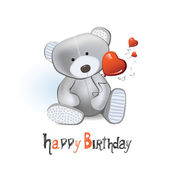 Happy Birthday teddy bear — Stock Vector