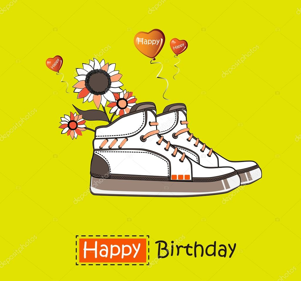 Кроссовки с днем рождения