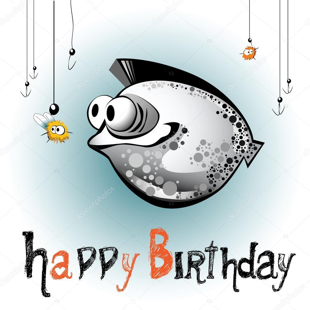 Открытки с днем рождения рыбе женщине