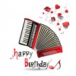 Stock Vector: Happy Birthday accordion