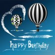 Royalty-Free Stock Vector Image: Happy Birthday balloons in the sky