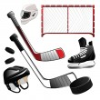 Stock Vector: Hockey icons