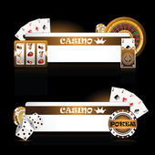 Casino card — Stock Vector