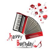Happy Birthday accordion — Stock Vector