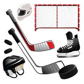 Hockey icons — Stock Vector