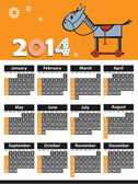 2014 calendar year of the horse — Stock Vector