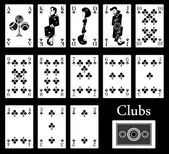Clubs cards — Vector de stock