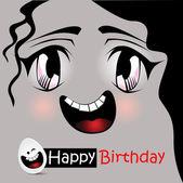 Happy birthday anime — Stock Vector