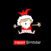 Happy Birthday Smile king on a black background — Stock Vector