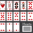 Hearts cards casino — Stock Vector #36900051