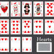Hearts cards casino — Stock Vector