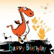 Happy Birthday dragon — Stock Vector