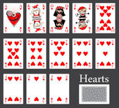 Hearts cards casino — Stock Vector