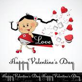 Happy Valentine's Day love smile — 图库矢量图片