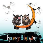 Happy Birthday owl — Stock Vector