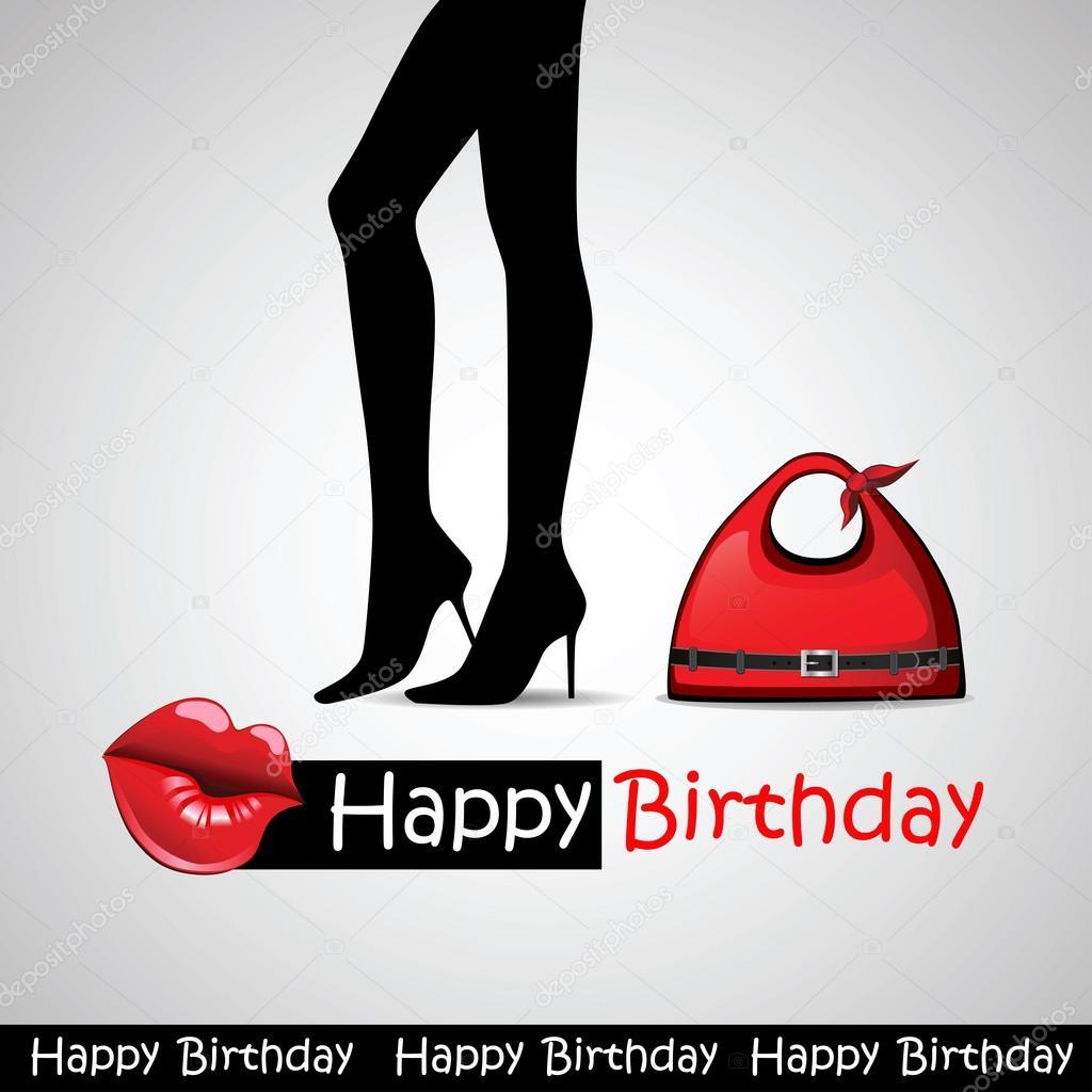 Happy birthday card fashion Vector novkota1 36900387 – Fashion Birthday Cards
