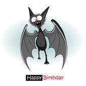 Happy Birthday bat smile — Stock Vector
