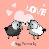 Happy Valentine's Day love smile — Stok Vektör