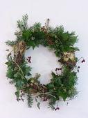 A Rustic Christmas Wreath — Stock Photo