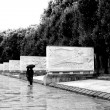 Stock Photo: In rain at Memorial