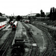 Foto Stock: Parking trains