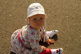 Sitting little baby — Stock Photo