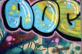 Graffiti on a wall — Stock Photo