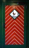 Colored front door — Stock Photo