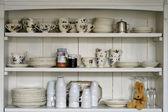 Old kitchen shelf — Stock Photo