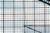 Steel mesh and sky — Stock fotografie