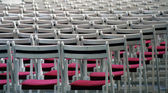 Chairs in a row — Stock Photo