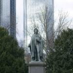 Schiller monument Frankfurt — Stock Photo