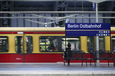 Platform Berlin Railway Station — Stock Photo