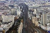 Railroad tracks Paris — Stock Photo