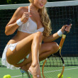 Sexy tennis girl — Stock Photo #14375963