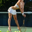 Sexy tennis girl — Stock Photo